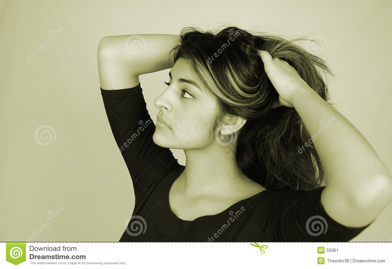 Download Woman-10 occasionnel image stock. Image du pose, beau, occasionnel - 59361