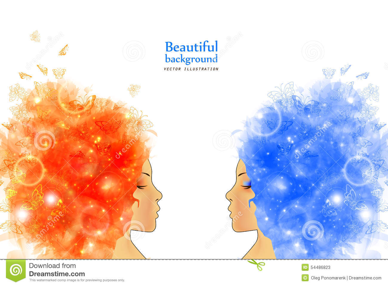 Woman with abstract hair stock vector image 54486823 for Abstract beauty salon