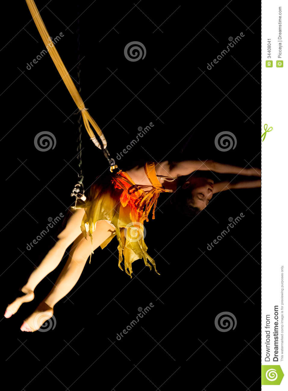 Woman Acrobat In Action In Circus Editorial Photo - Image