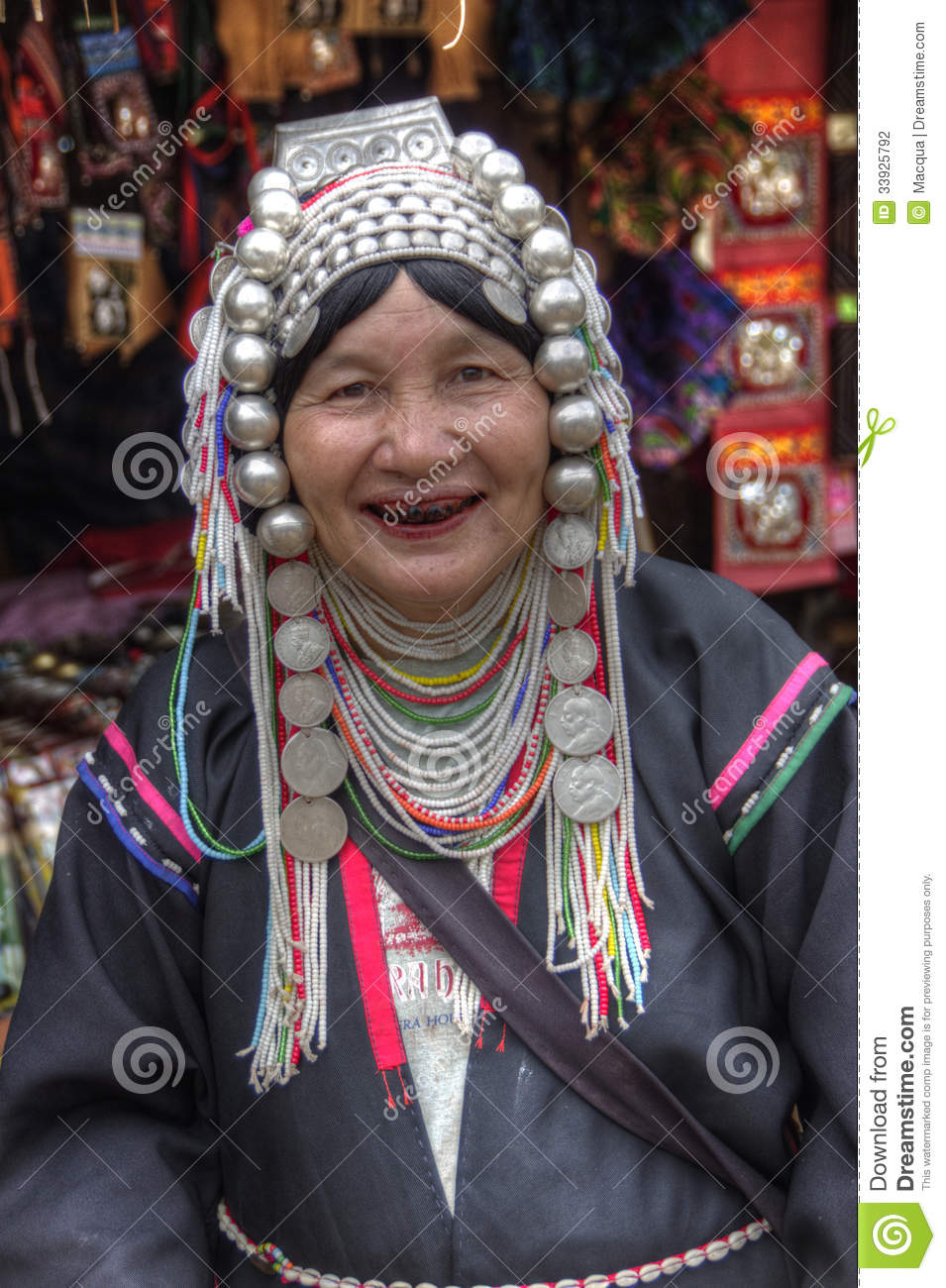 Woman - Akha tribe - Chiang Mai - Golden Triangle - Thailand