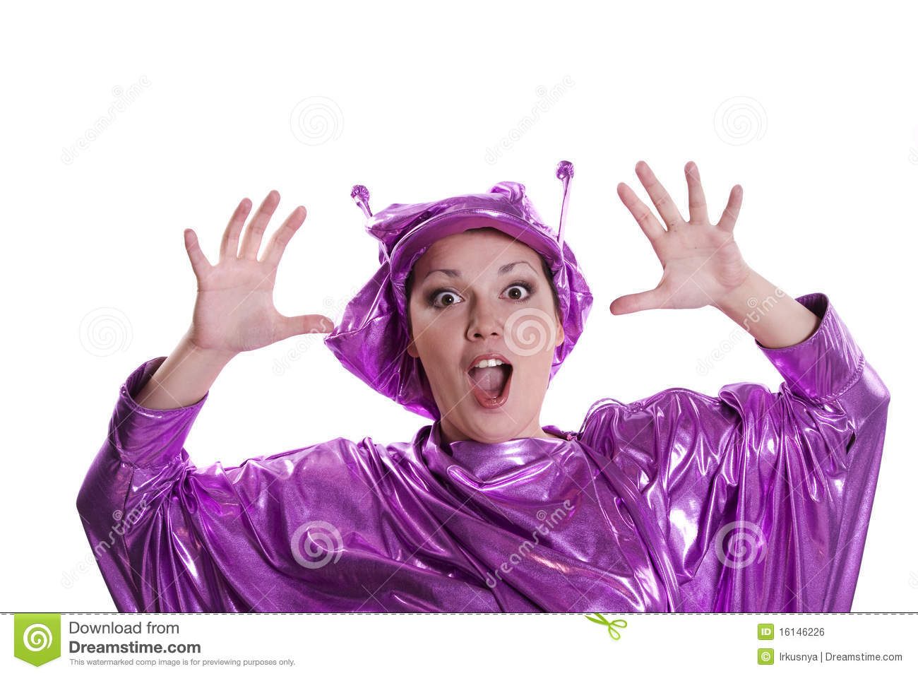 Download comp  sc 1 st  Dreamstime.com & Woman in alien costume stock photo. Image of cheerful - 16146226