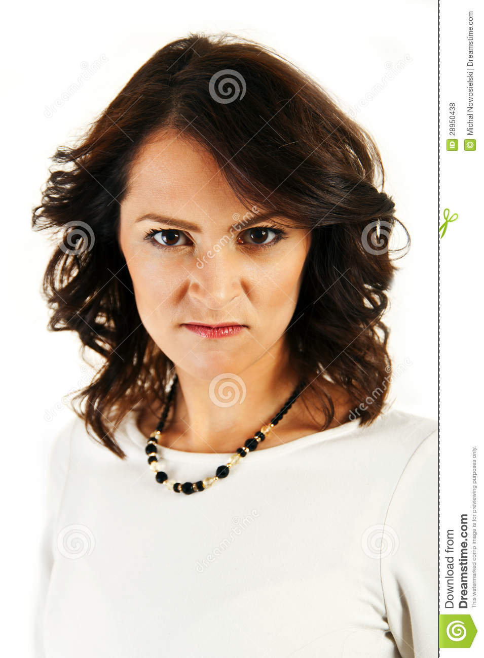 Woman With Angry Face Royalty Free Stock Photos - Image: 28950438