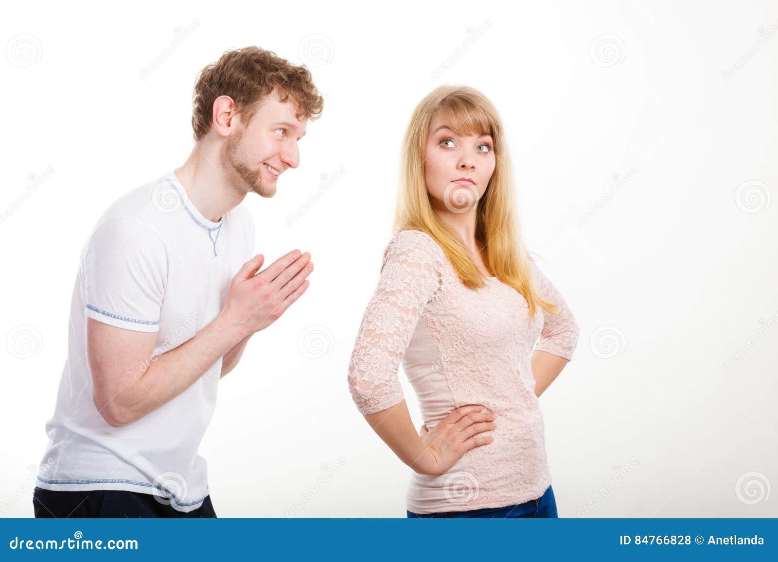 When a man apologizes to a woman