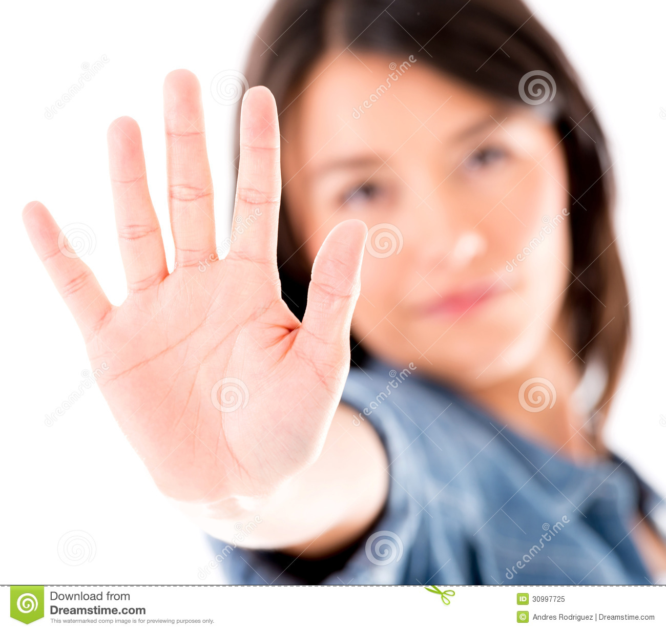 Woman Asking To Stop Royalty Free Stock Photo