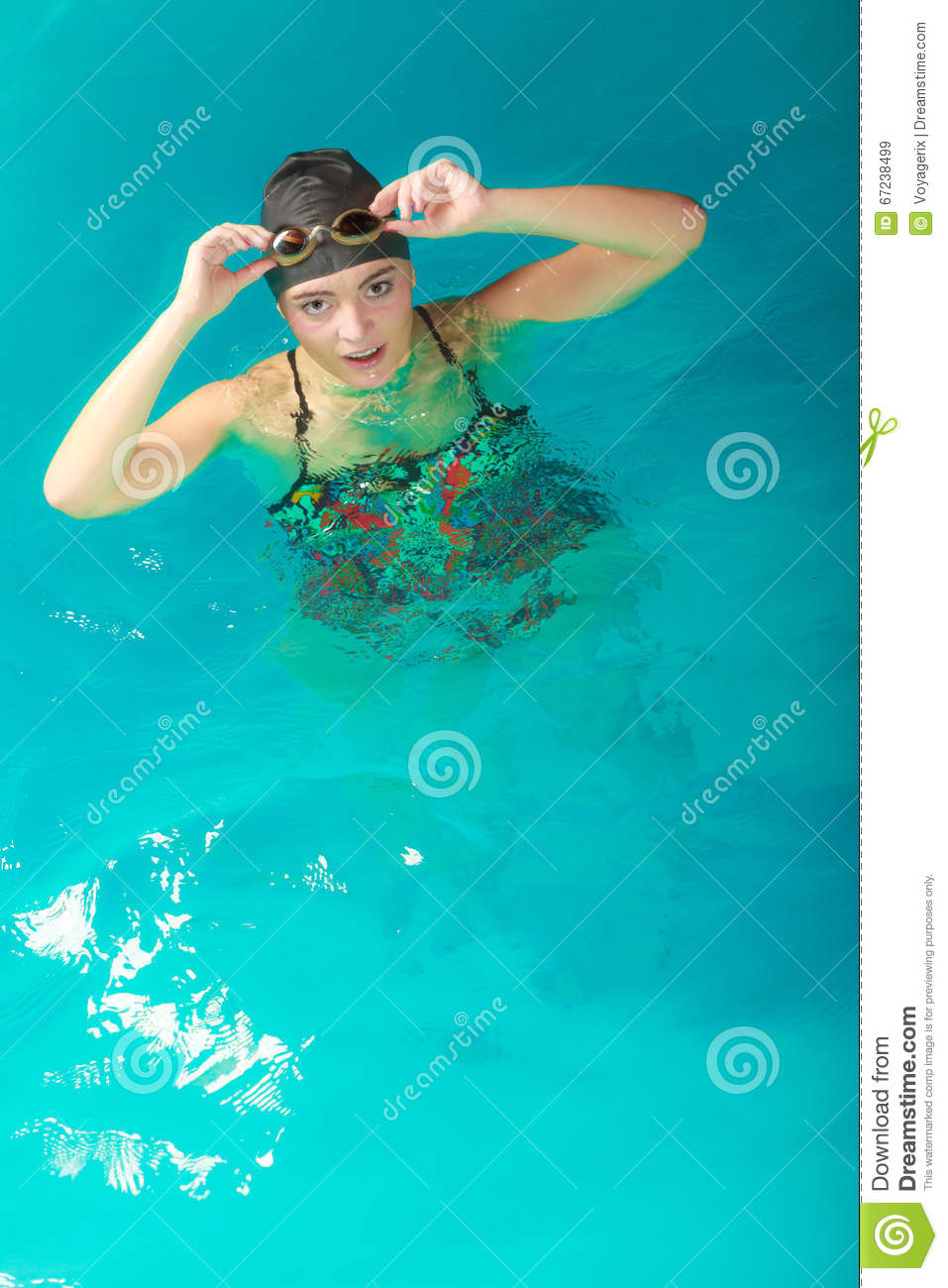 Woman Athlete In Swimming Pool Water Sport Stock Image Image Of Race Exercise 67238499
