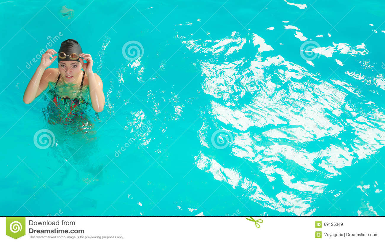 Woman Athlete In Swimming Pool Water Sport Stock Image Image 69125349