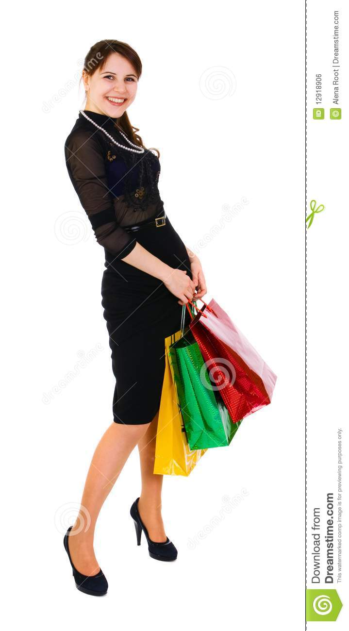 Woman With Bag Royalty Free Stock Image - Image: 12918906