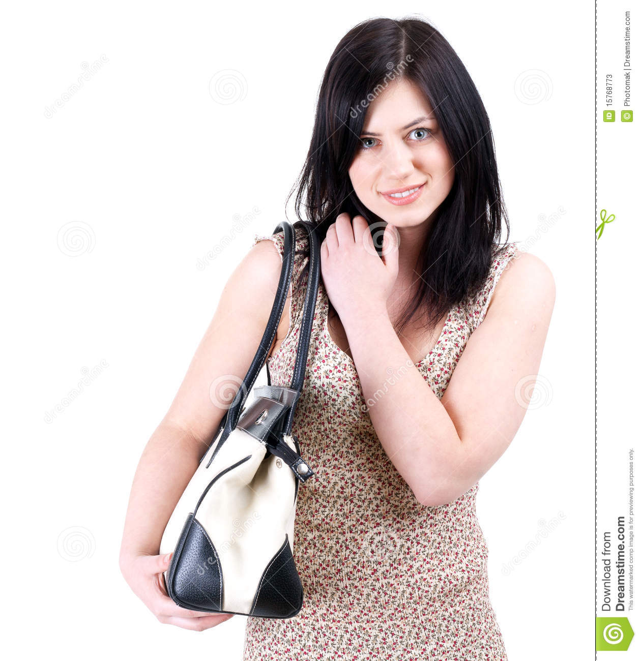 Woman With Bag Stock Photos - Image: 15768773