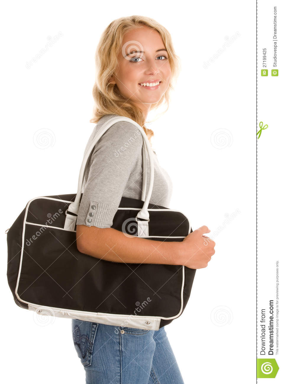 Woman With Bag Royalty Free Stock Photo - Image: 27199425