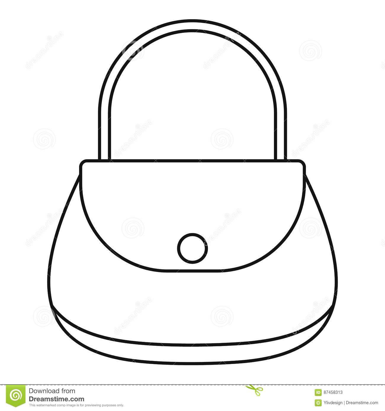 Outline Shopping Bag Clip Art , Free Transparent Clipart - ClipartKey