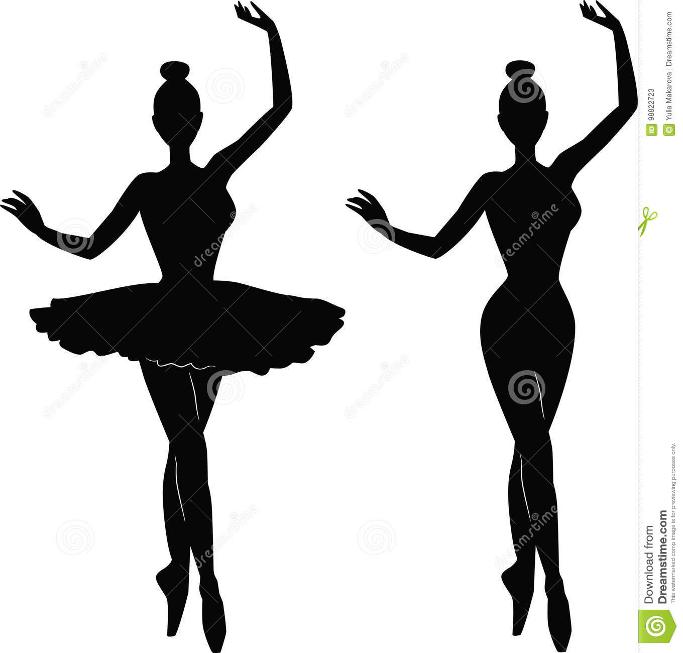 Woman Ballet Dancer Silhouette Stock Vector Illustration Of Dance Moves Diagram