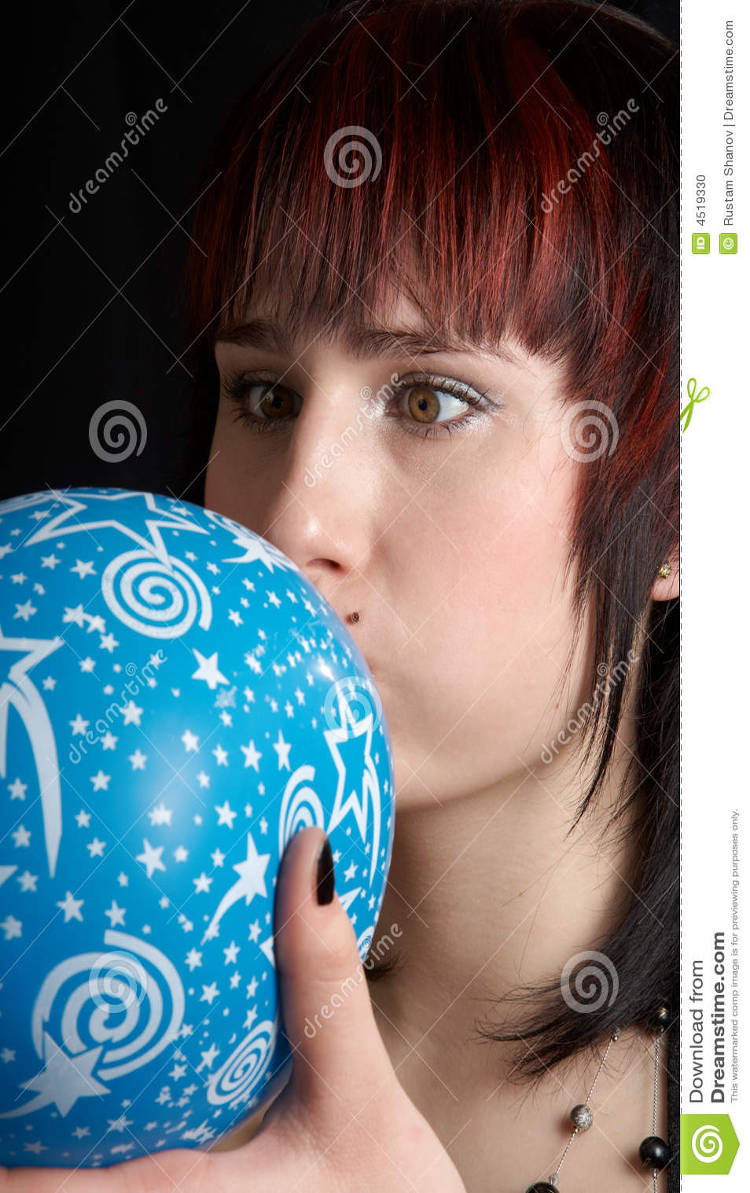 Woman&ballon