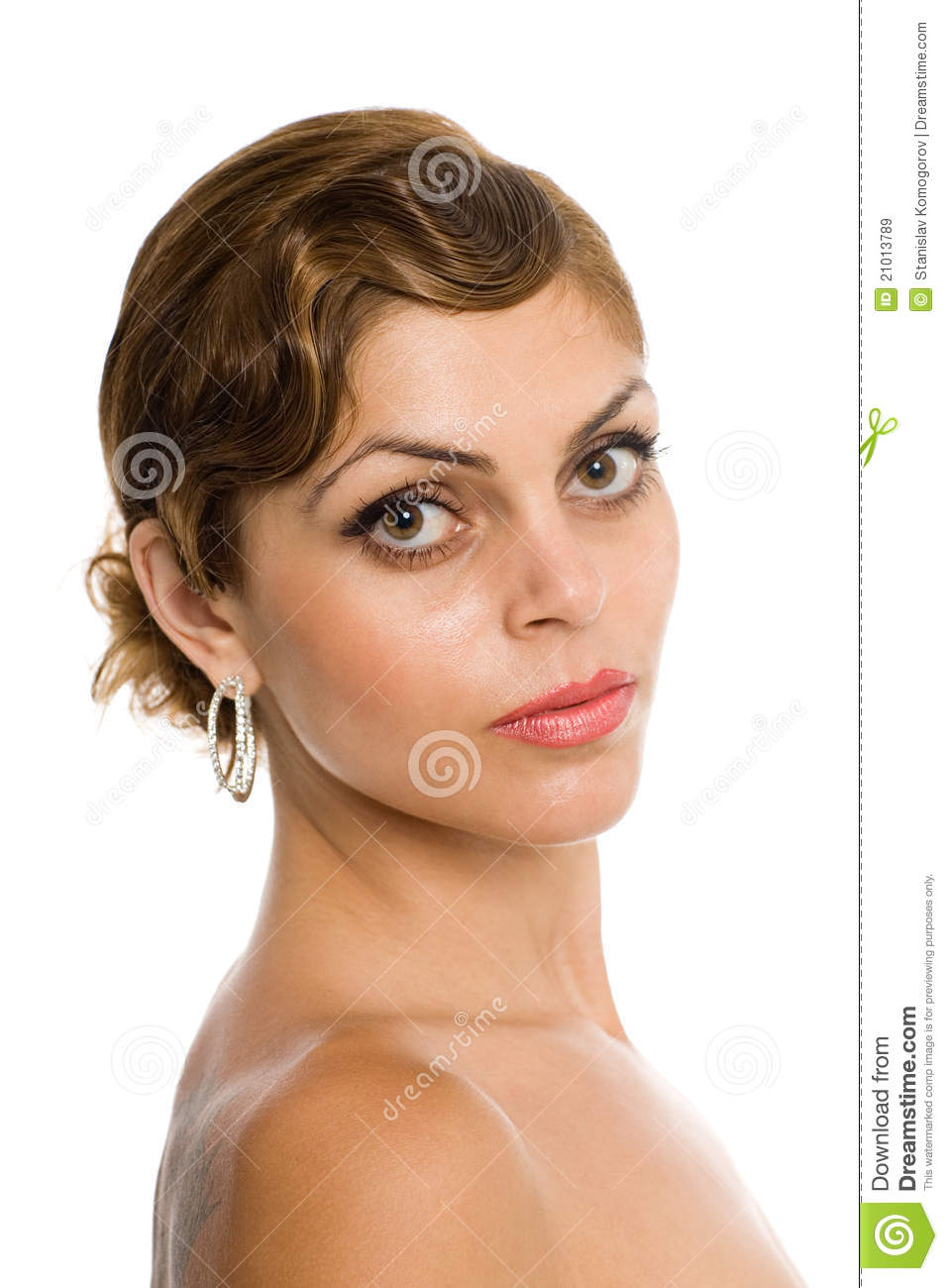 Woman With Bare Shoulders. Royalty Free Stock Images ...