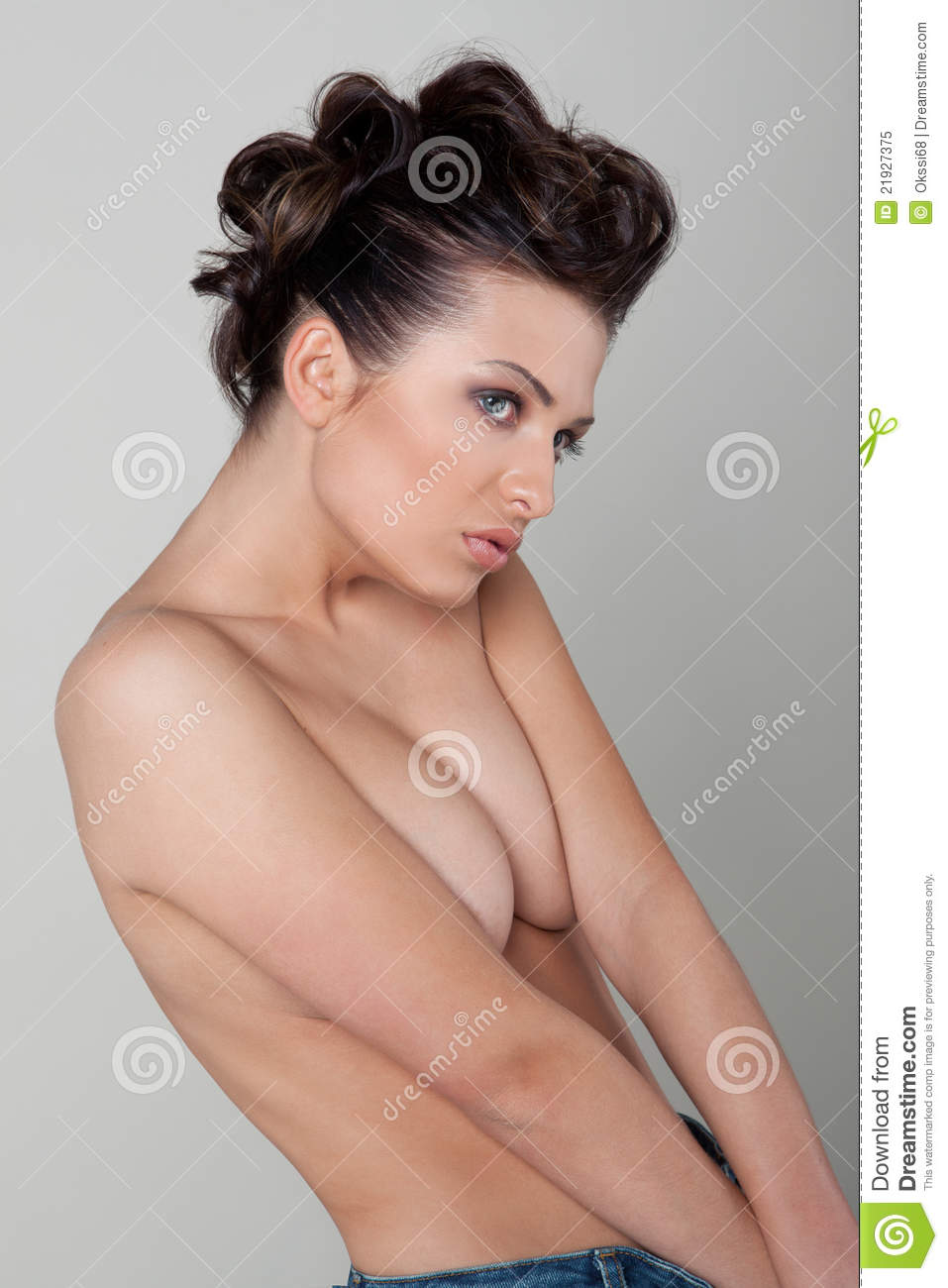 Woman with bare shoulders