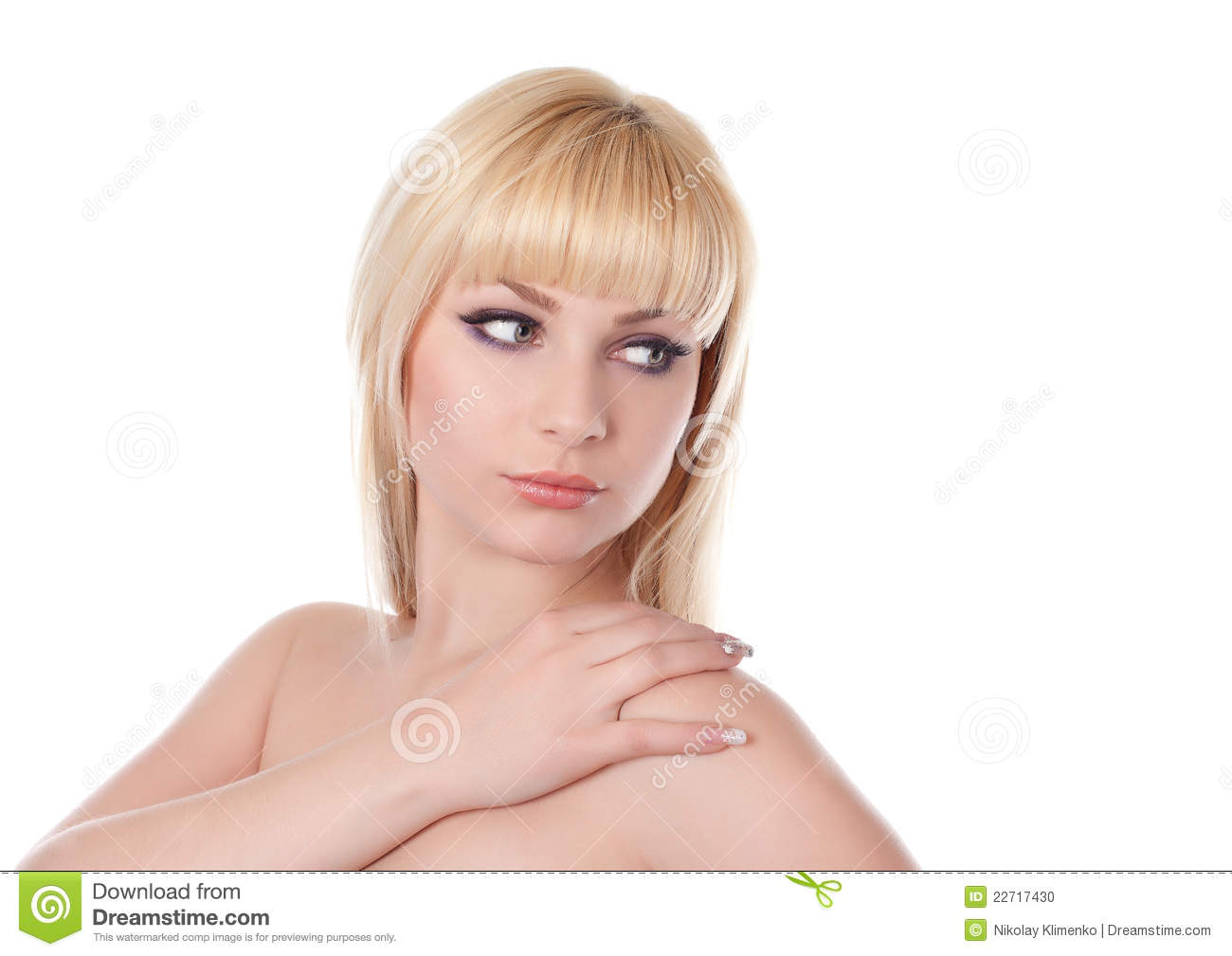 woman with beautiful blond hairs