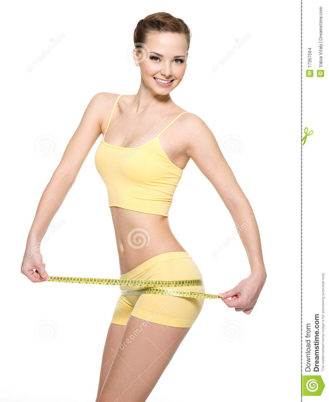 Woman with beautiful body after diet