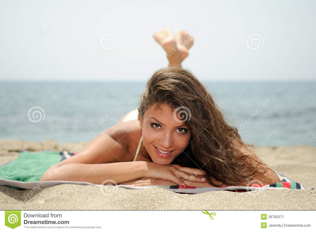 Woman With Beautiful Body On A Tropical Beach Stock Image - Image ...