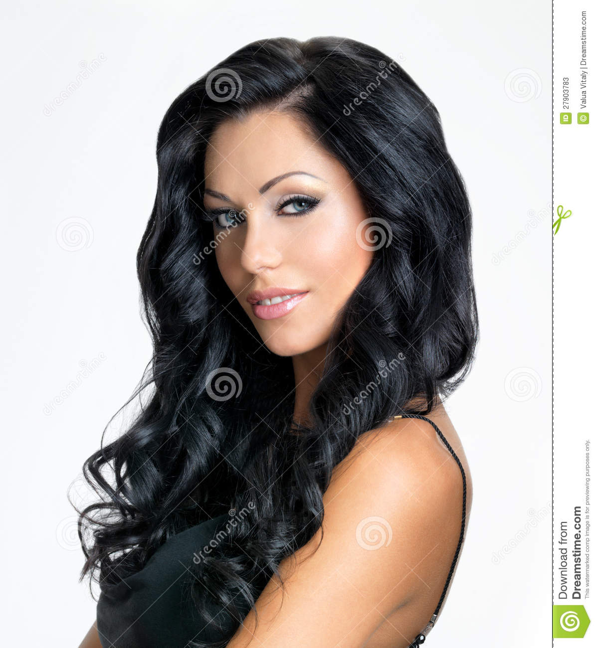 Woman With Beauty Long Black Hair Stock Photos Image