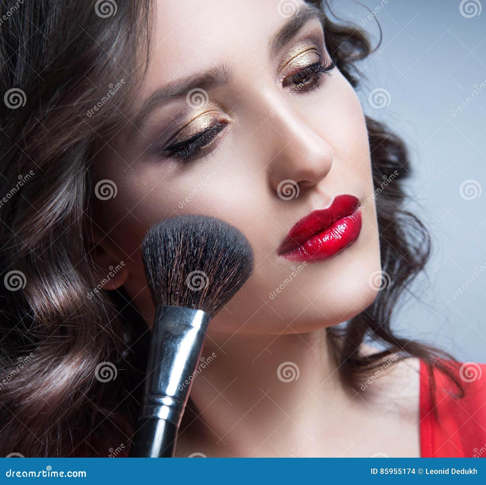 Woman beauty portrait face makeup