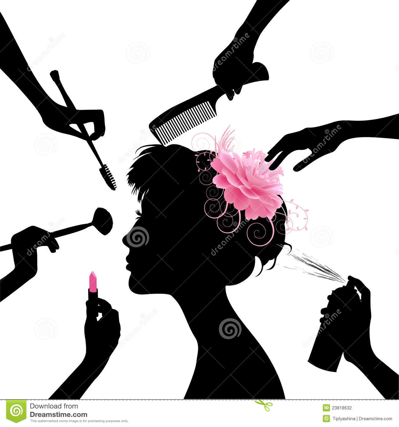 Woman In A Beauty Salon. Stock Vector. Illustration Of