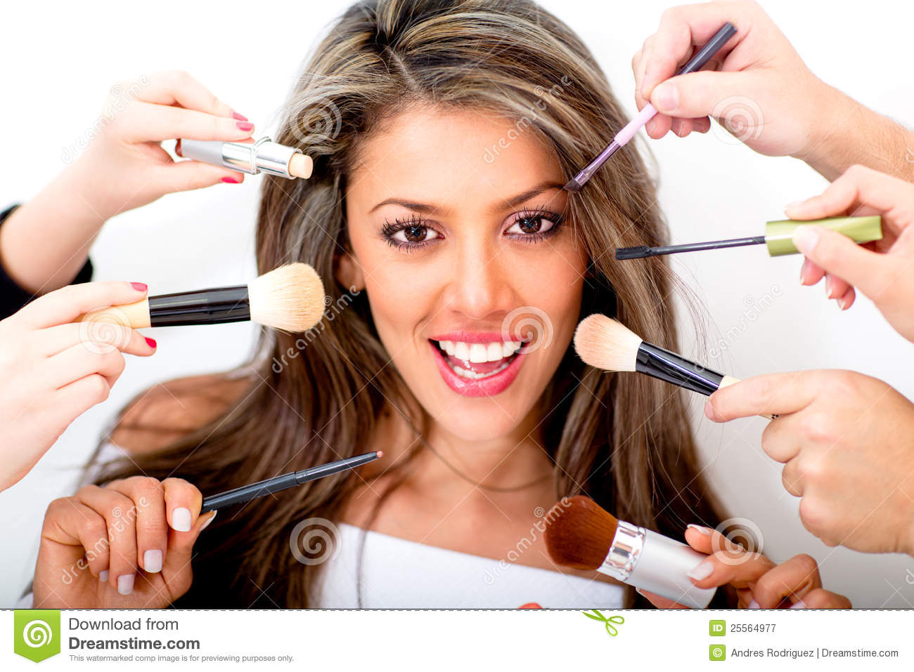 Woman at the beauty salon royalty free stock photography for A b beauty salon