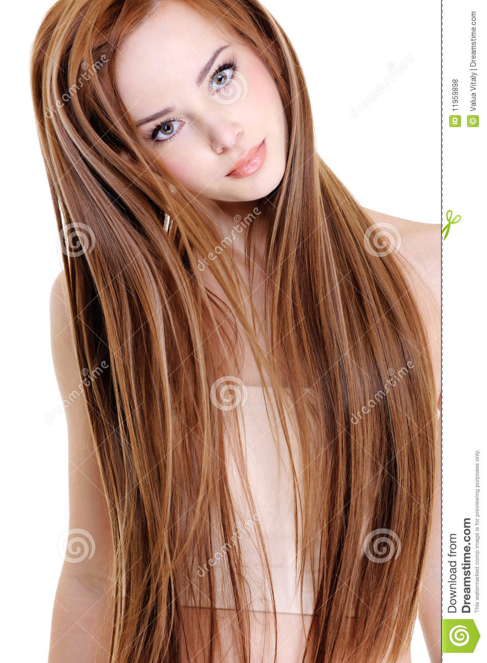 Woman With Beauty Straight Hairs Stock Photo Image 11959898