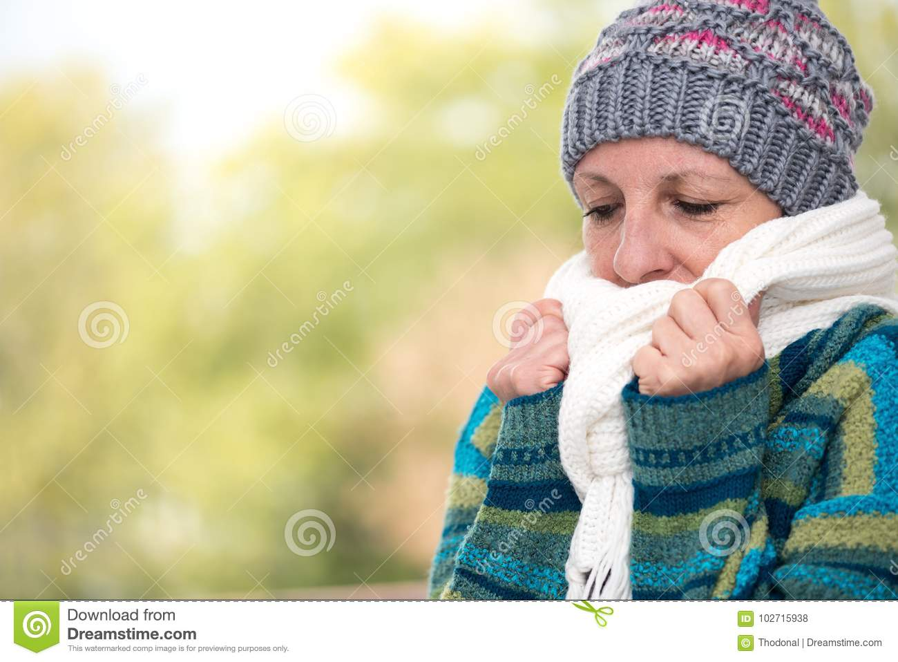cold Mature woman