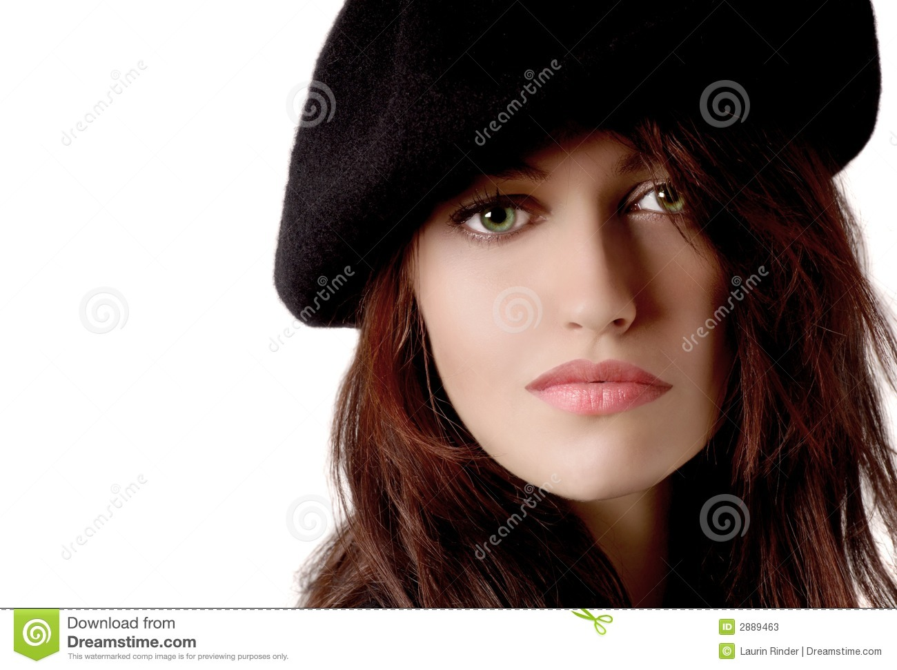 Woman with Beret stock image. Image of eyes a8c9fa2bc83
