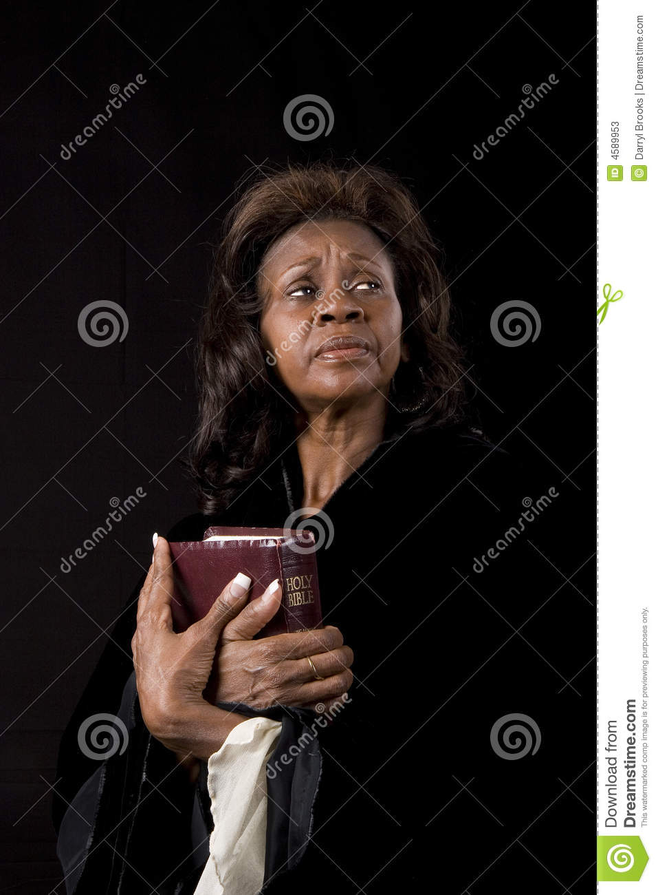 Woman with Bible Eyes Left