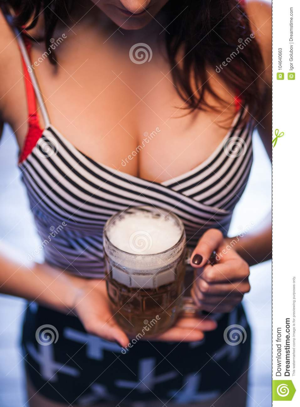 Good Times, Beer And Girls With Big Breasts