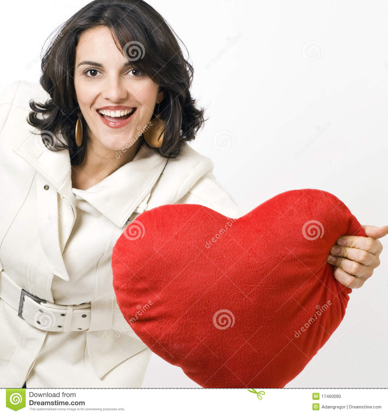Woman with a big red heart