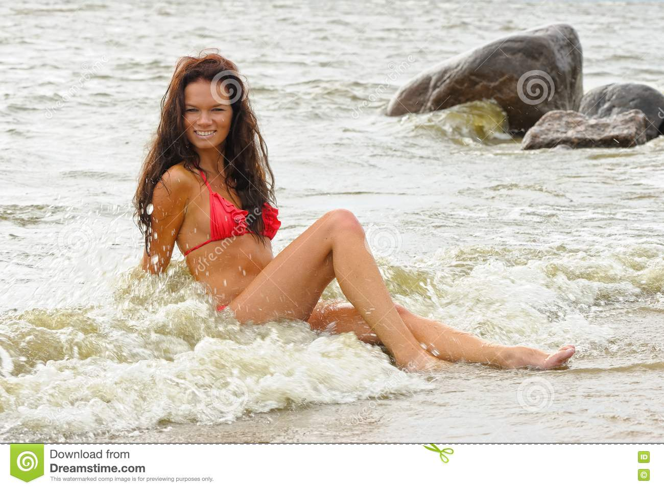 Woman In Bikini At Sea Picture. Image  15929247 8eea6612bcc