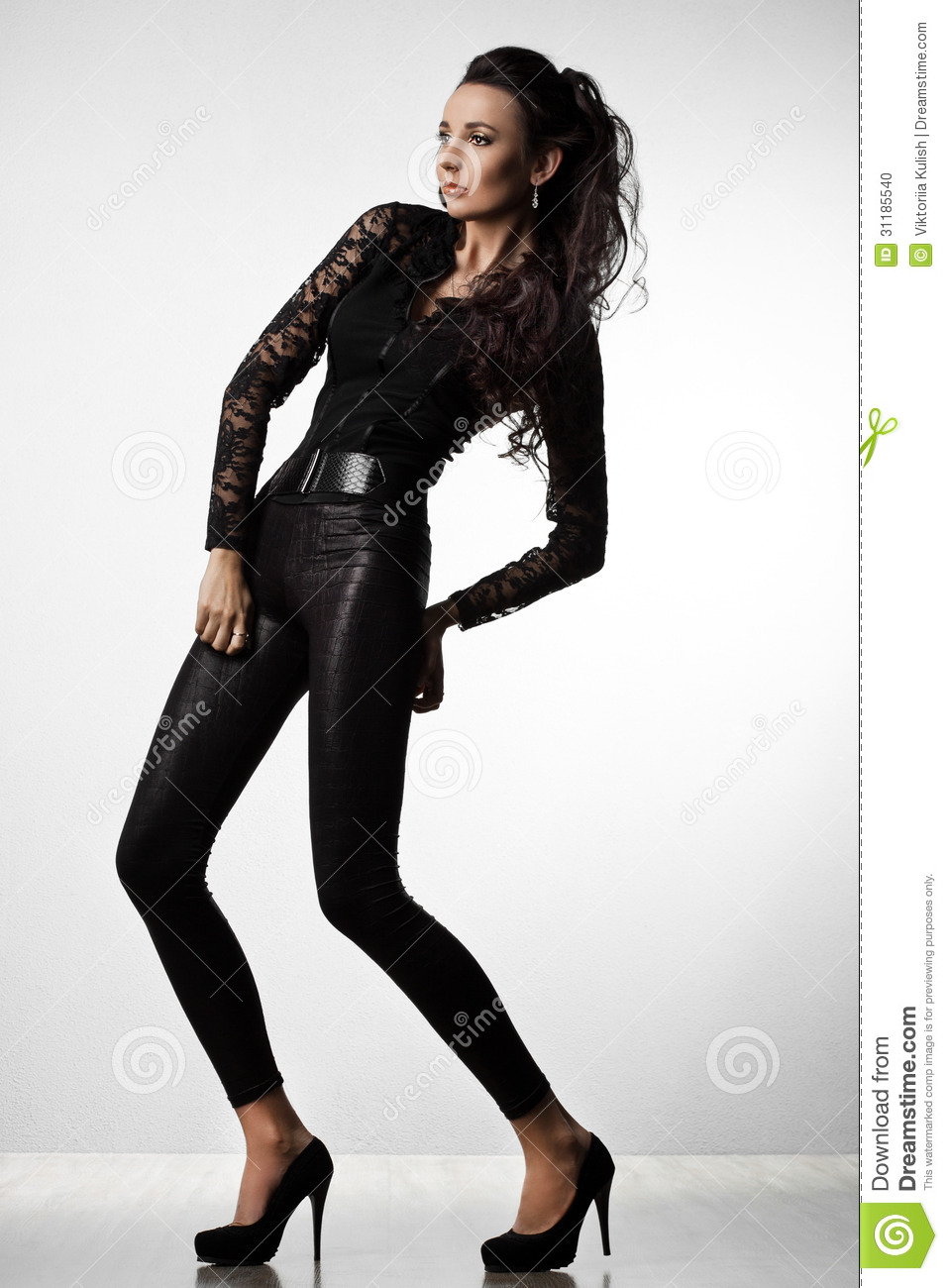 in black clothes stock photo image 31185540