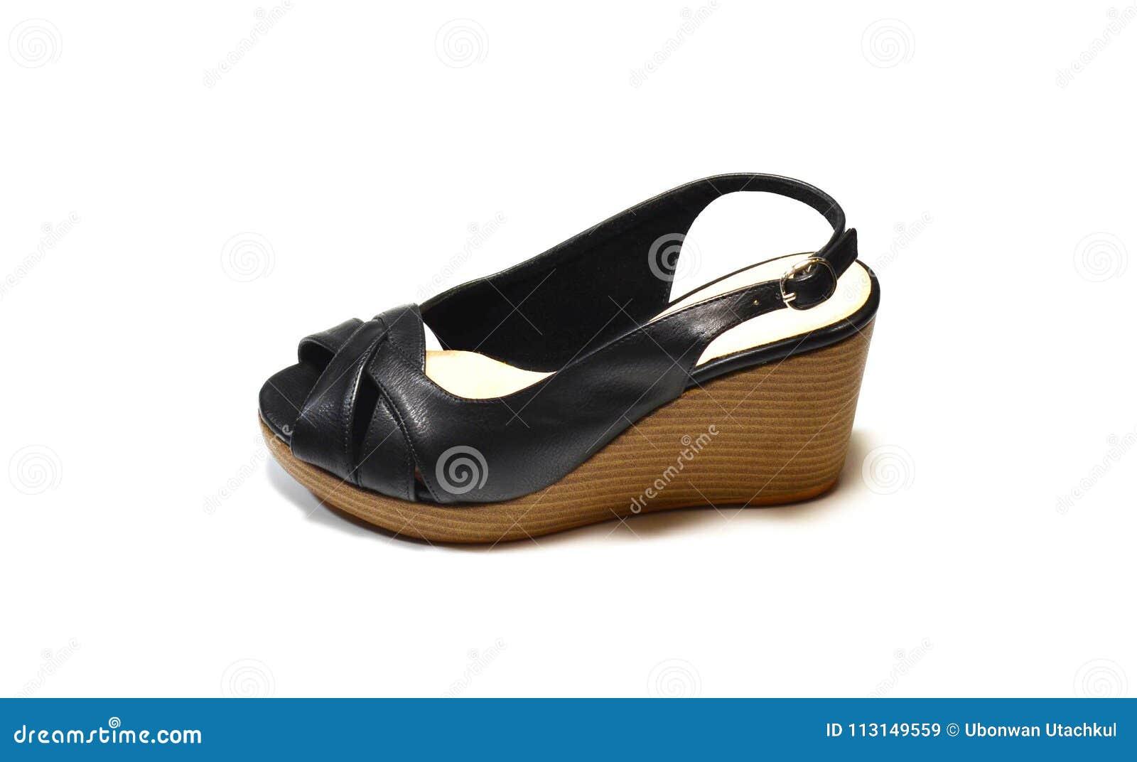 f00c5667c06 Elegant woman black high-heel shoes