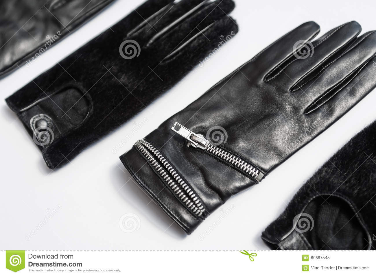 80841a911 Woman Black Leather Gloves Isolated Stock Image - Image of personal ...