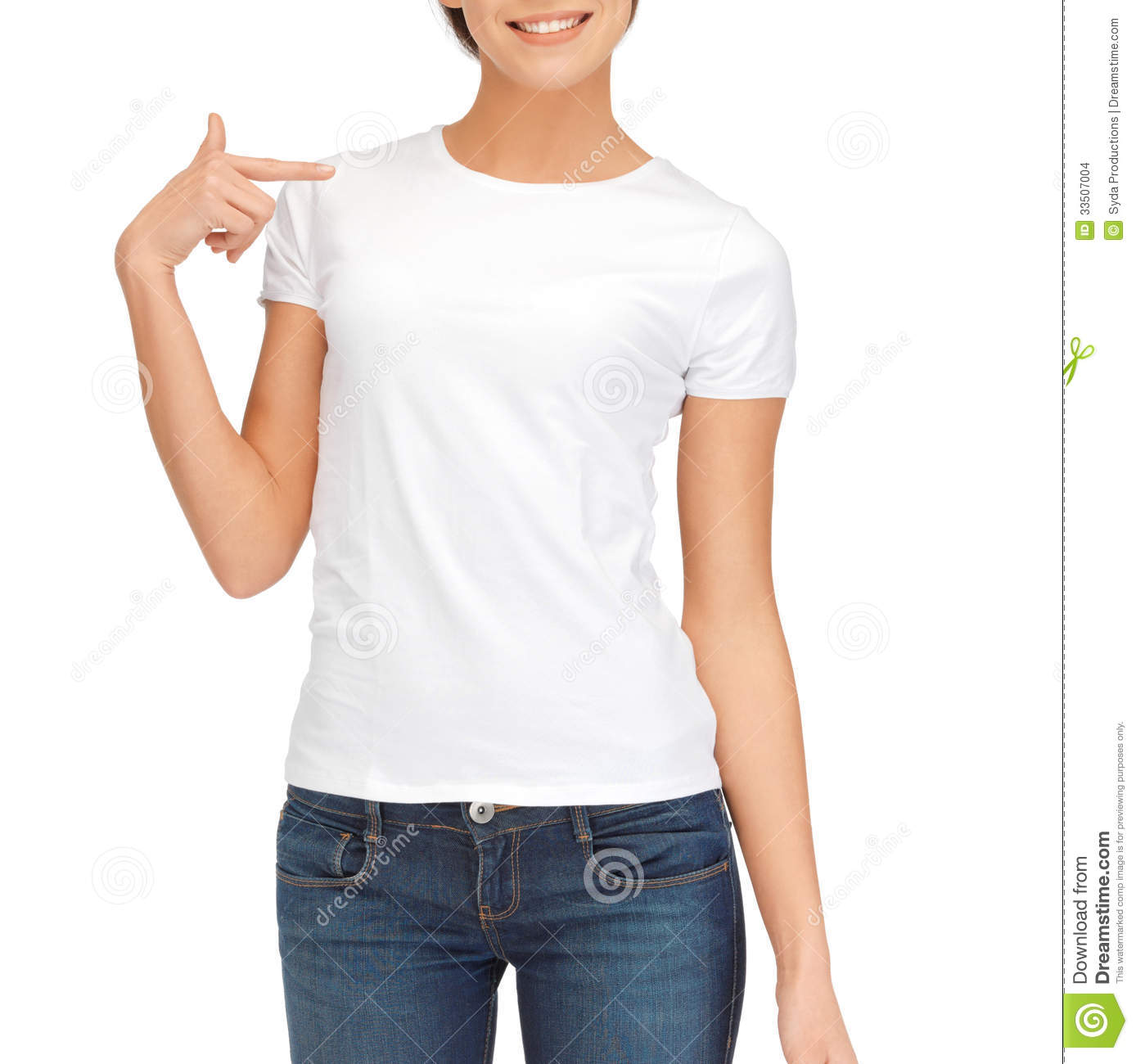 woman in blank white t-shirt stock images