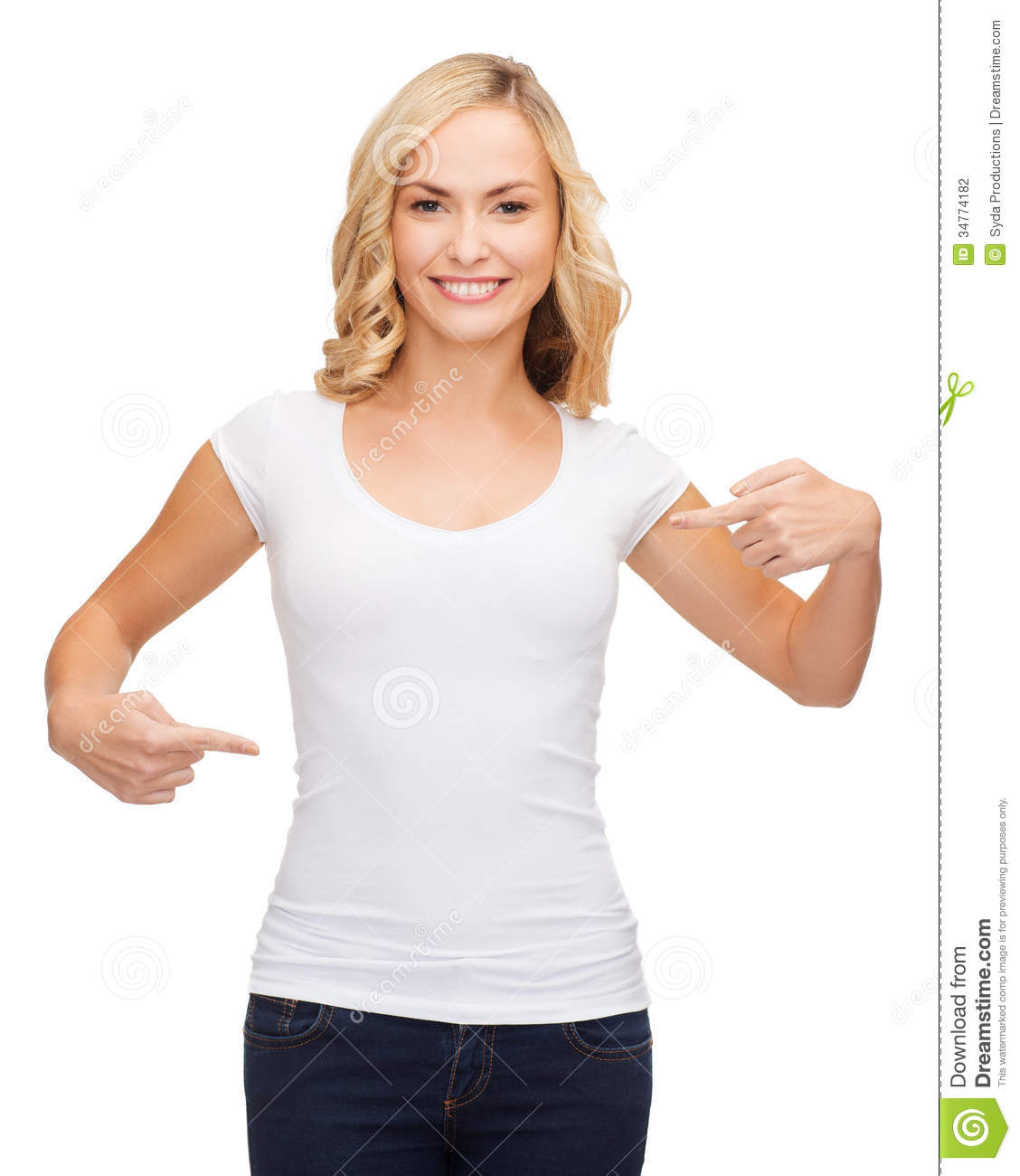 Woman in blank white t shirt stock photo image 34774182 for Model black t shirt