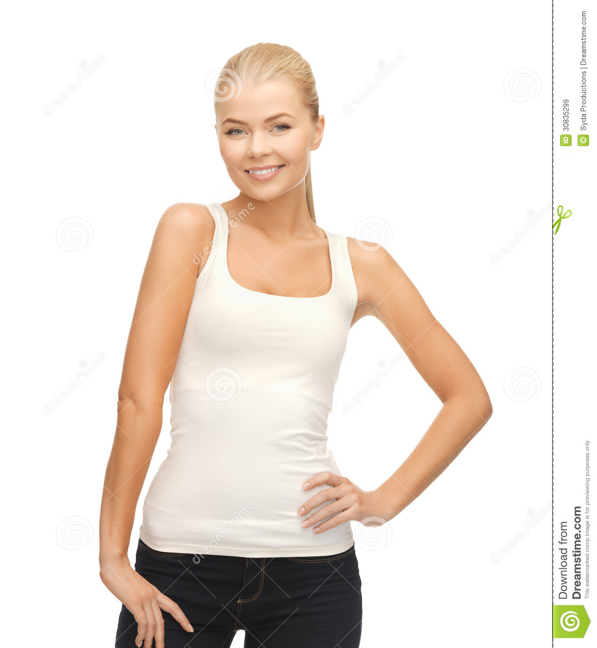 woman in blank white t shirt royalty free stock images image. Black Bedroom Furniture Sets. Home Design Ideas