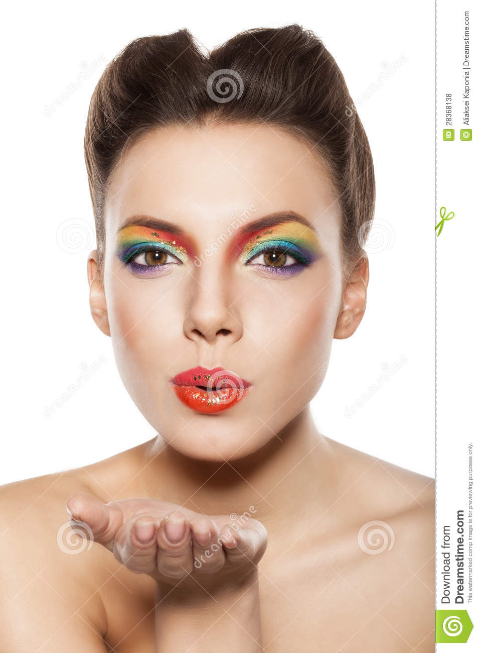 Woman Blowing A Kiss Stock Photo Image Of Lady Clean