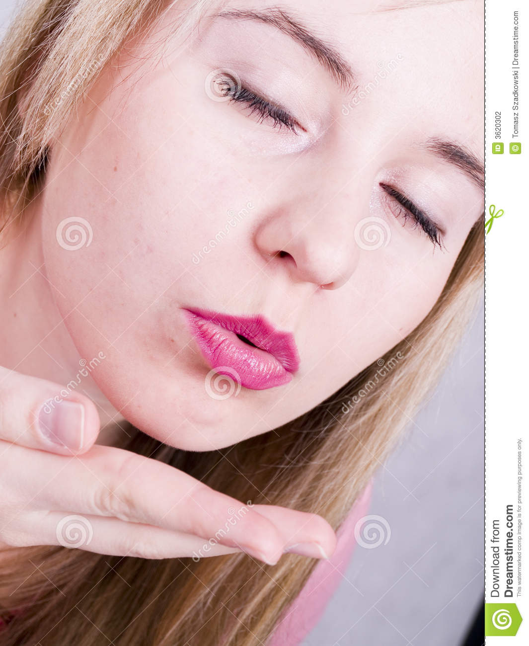 Woman Blowing A Kiss Stock Photography - Image: 3620302