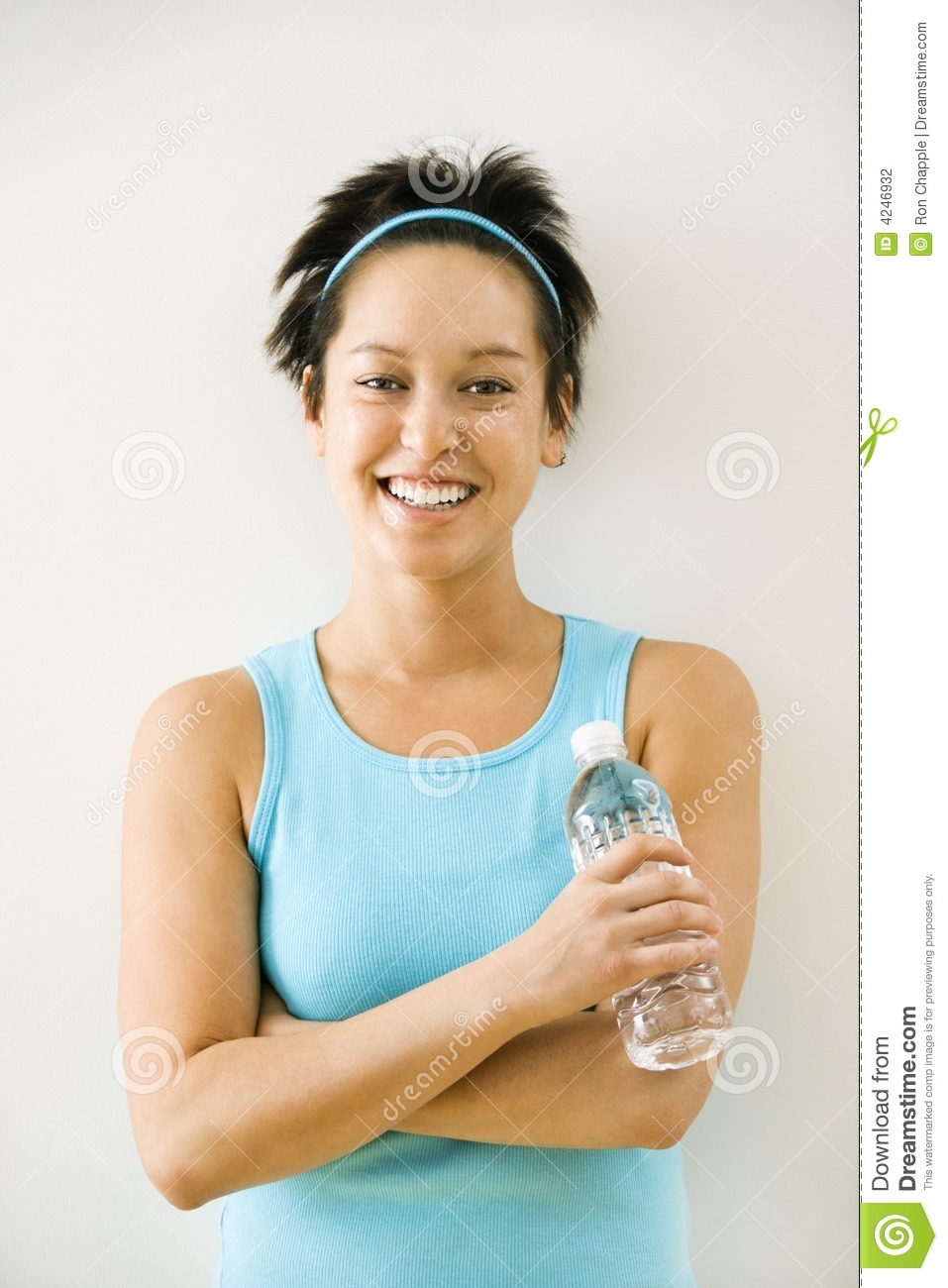 woman with bottled water stock photography image 4246932