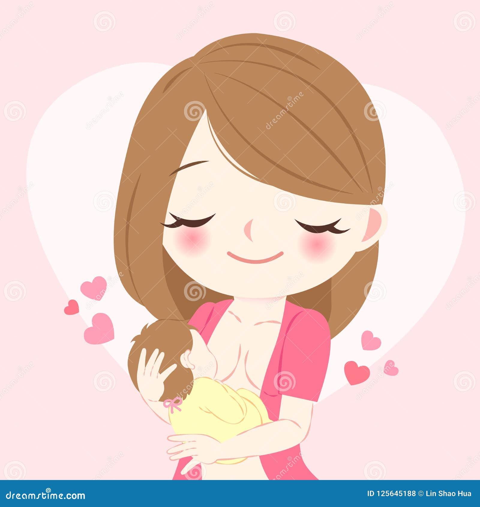 Woman with breast feeding