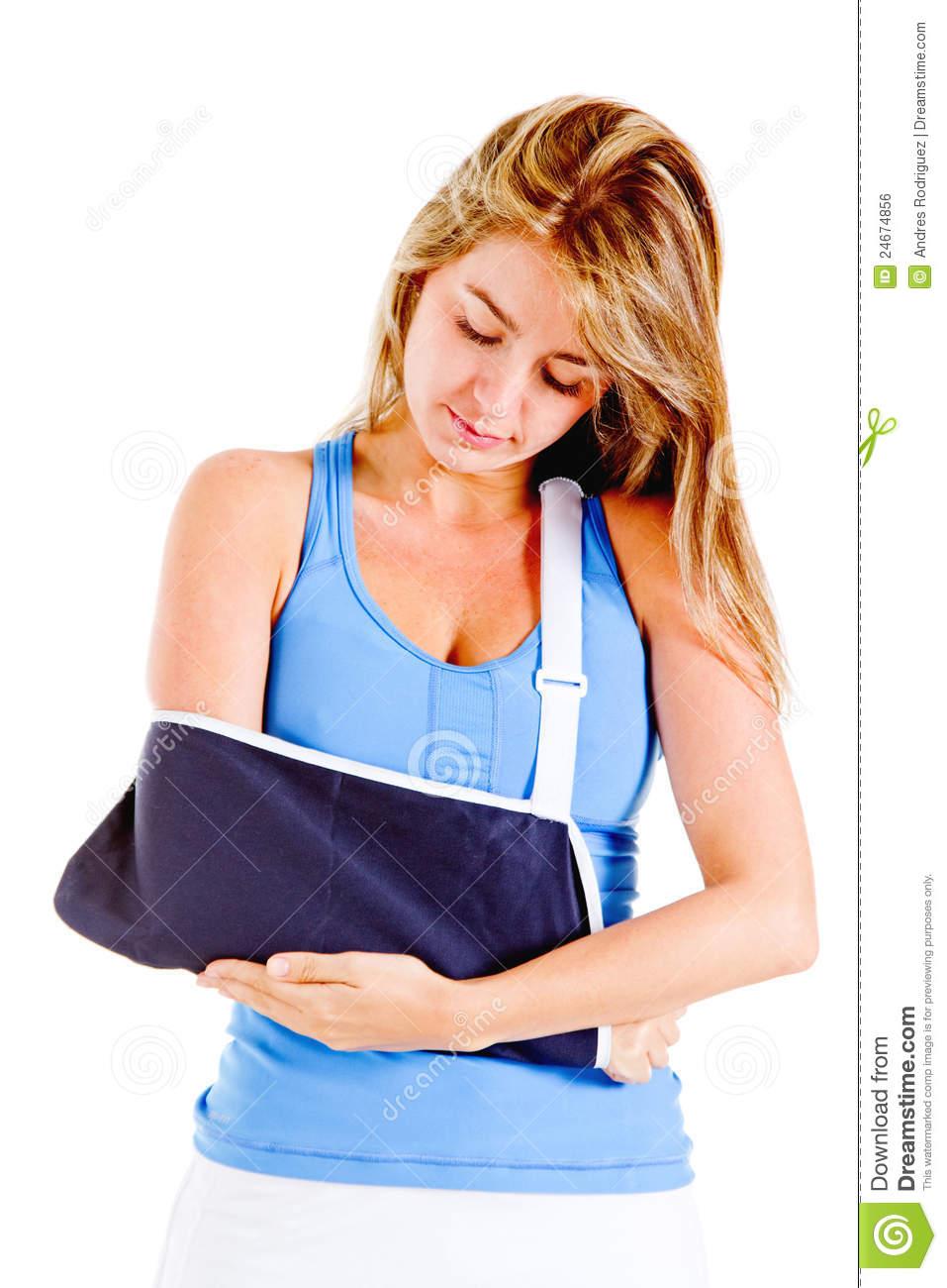 Woman With Broken Arm Royalty Free Stock Image - Image: 24674856