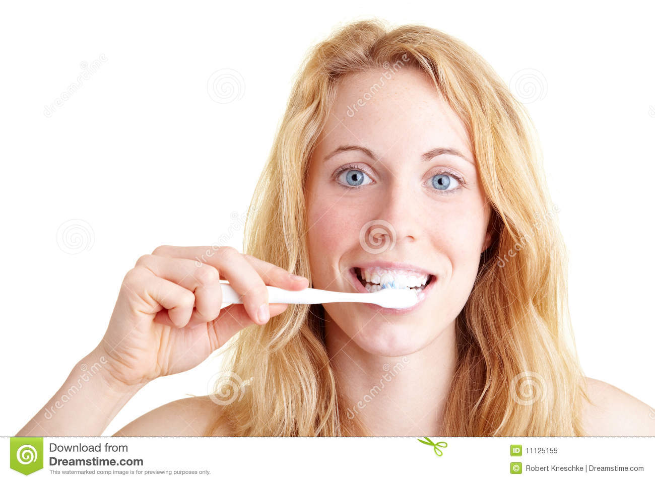Woman Brushing Teeth Royalty Free Stock Photo - Image ...