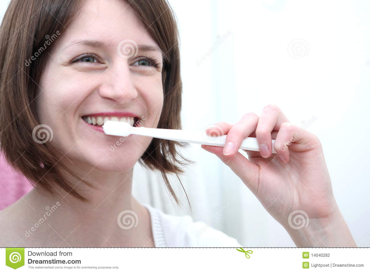 Woman Brushing Teeth Stock Photography - Image: 14040282