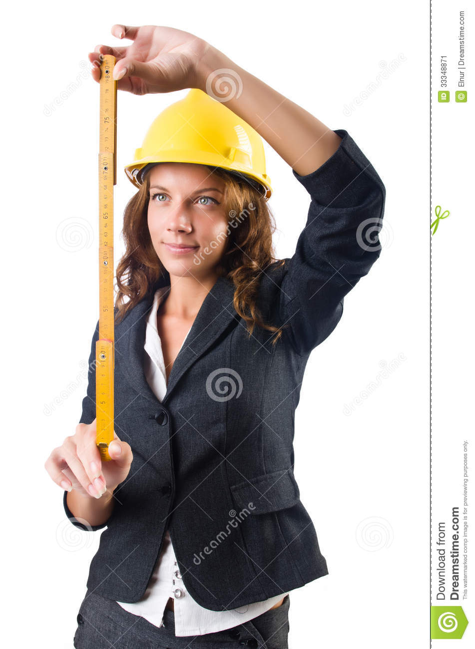 Woman builder stock image image 33348871 Www builder