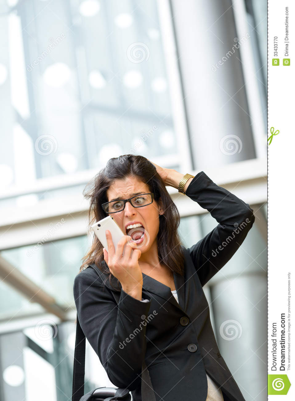 woman business crisis and stress stock photo