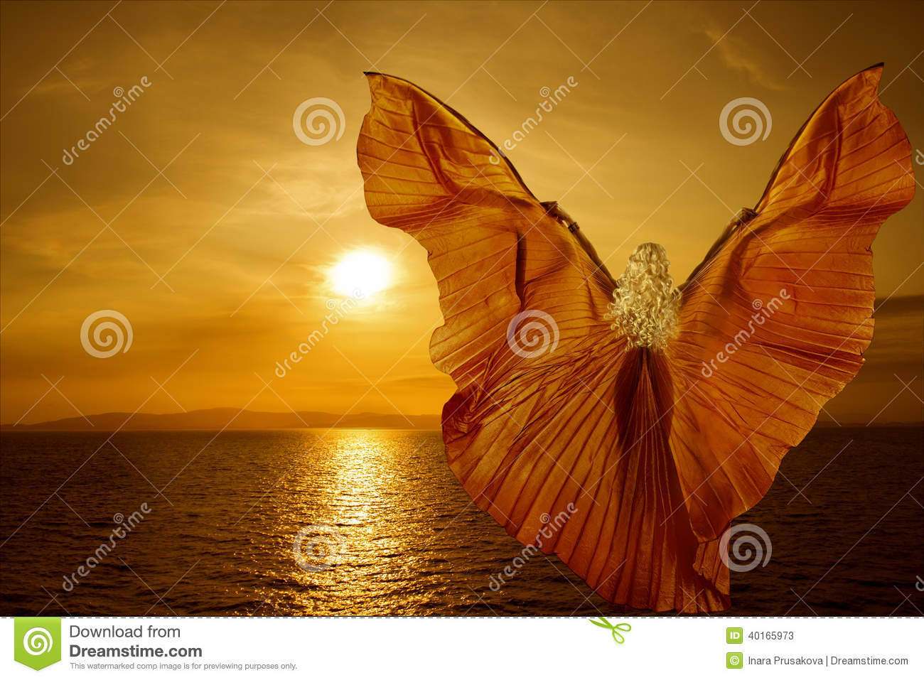 Bon anniv' MariedesBrumes ! Woman-butterfly-wings-flying-fantasy-sea-sunset-relaxation-meditation-concept-40165973