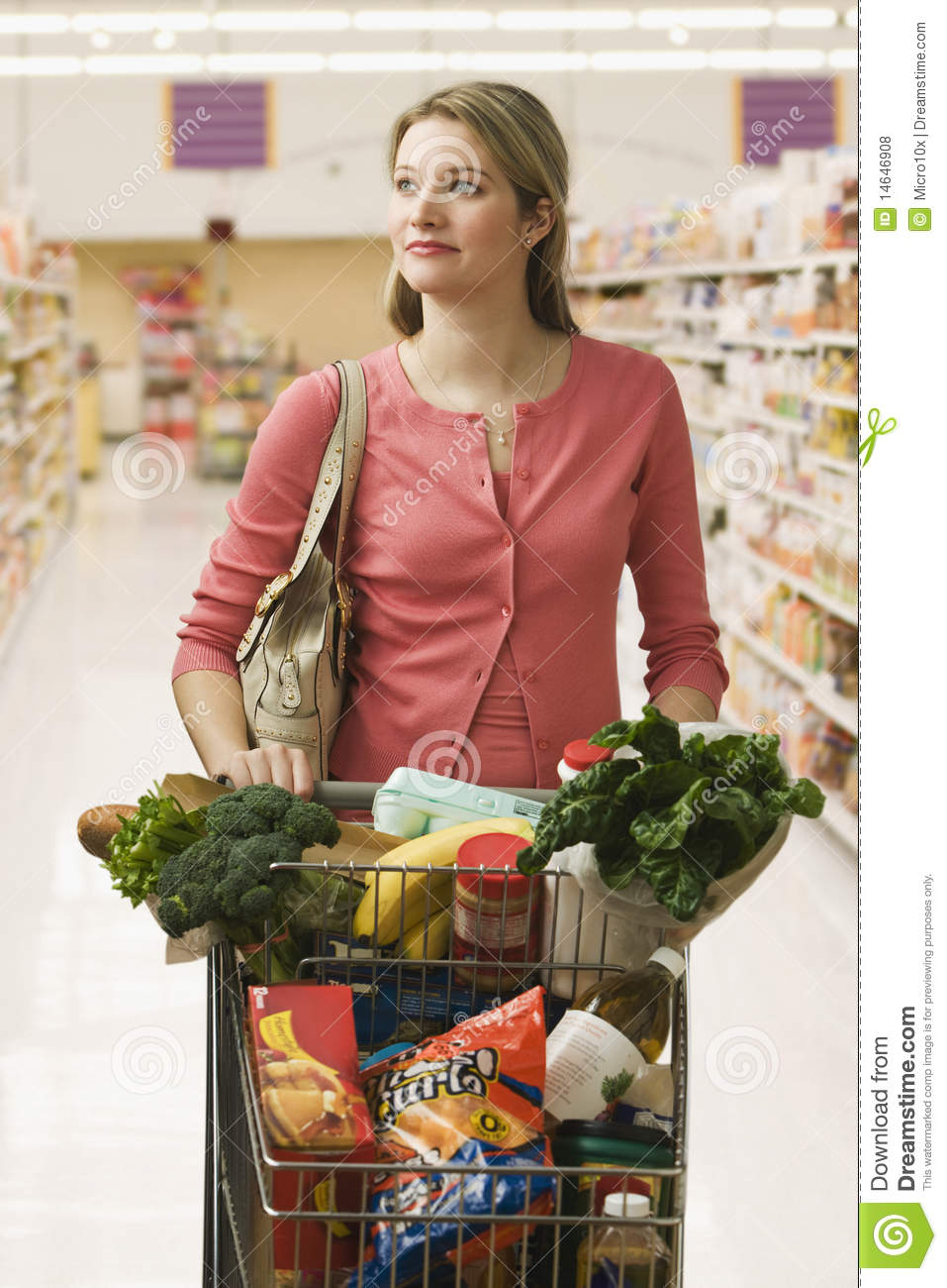 Buying A Full Face Snorkel Mask Reviews Of Full Face: Woman Buying Groceries Royalty Free Stock Photos