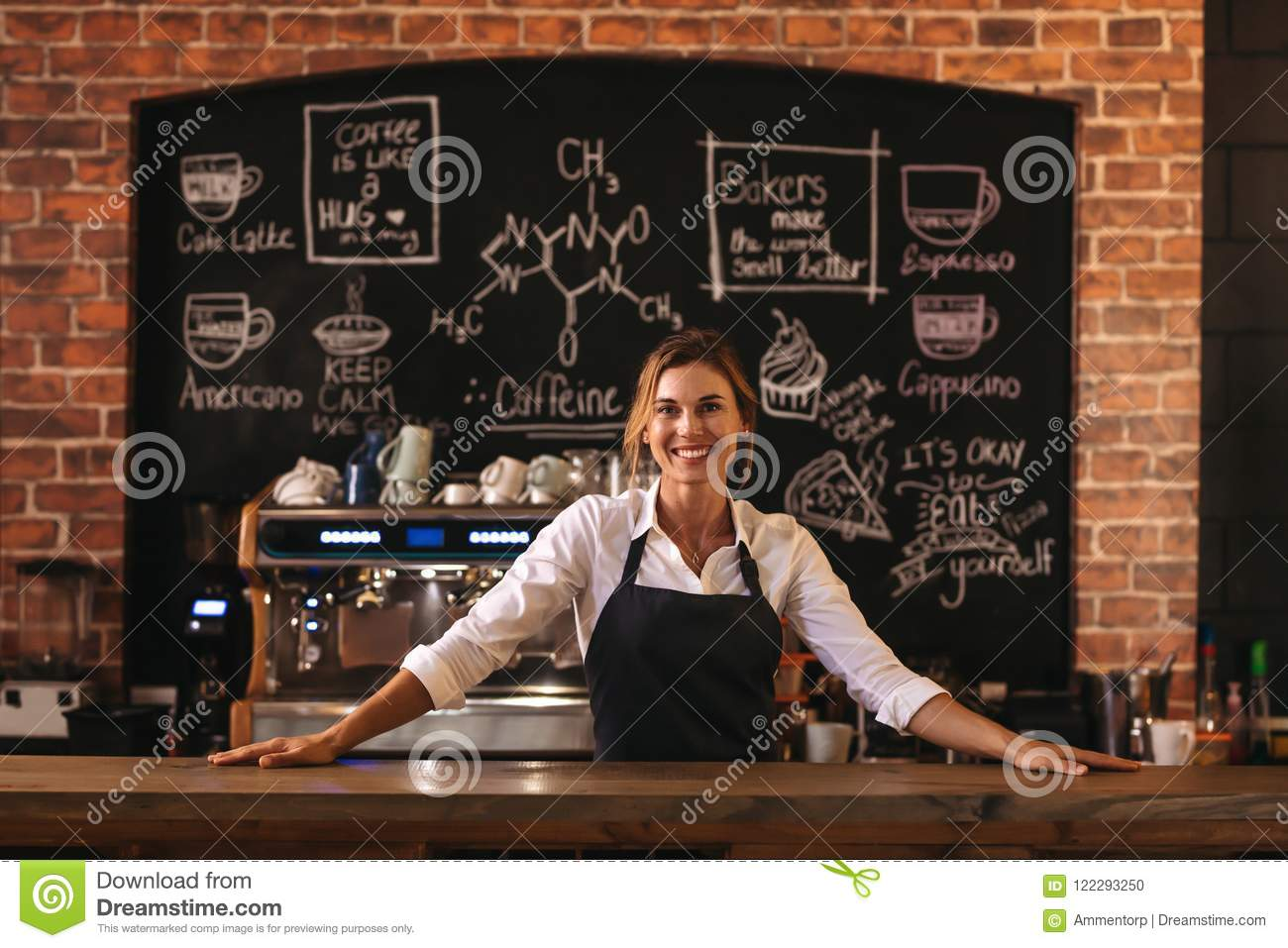 Woman cafe owner